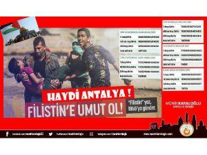 Vali Karaloğlu'ndan Filistin çağrısı
