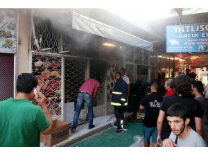 Gazipaşa'da işyeri yangını