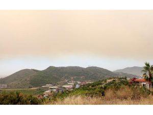 Alanya'da orman yangını 10 hektarda etkili, arazöz alevlerin ortasında kaldı (4)
