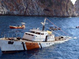 Sahil Güvenlik Gemisi dalış turizmi için batırıldı