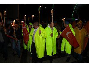 Sarıkamış'ta 15 Temmuz Milli Birlik yürüyüşü