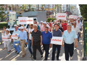 CHP'liler adalet yürüyüşü düzenledi