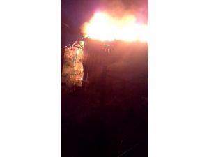 Karabük'te yanan ev küle döndü