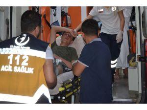 Yaralı göçmenler Silifke Devlet Hastanesine sevk edildi
