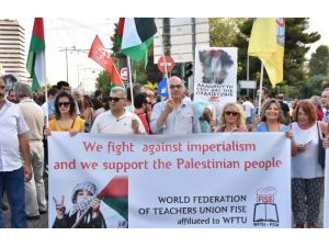 Yunanistan'da Filistin'e destek gösterisi