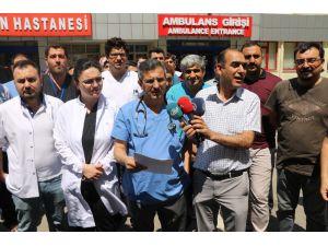Sağlıkçılara şiddete Gaziantep'te tepki