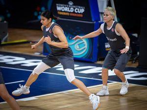 A Milli Kadın Basketbol Takımı, Arjantin maçı hazırlıklarını sürdürdü