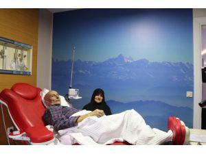 """Kemoterapi merkezinde """"sanal gökyüzü"""""""