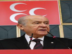 """Bahçeli: """"Partimiz; AK Parti ile Cumhurbaşkanı Hükümet etme sistemini 2019'da tam manasıyla tesis etmek maksadıyla, sonuna kadar birlikte ve yan yana mücadelesini sürdürecektir"""""""
