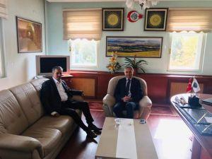 Kaymakam Akın'dan Belediye Başkanı Şentürk'e Ziyaret