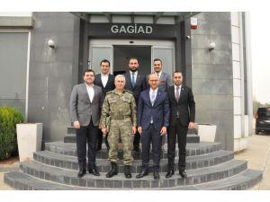 Tuğgeneral Atak'tan Gagiad Dernek Merkezine Ziyaret