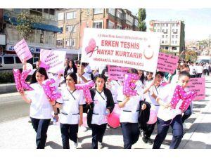 Meme Kanseri Farkındalık Yürüyüşü Düzenlendi