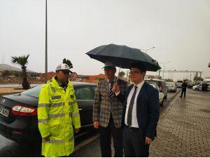 Kaymakam Düzgün'den Görev Başındaki Trafik Polislerine Ziyaret