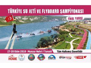 Türkiye Su Jeti Şampiyonası Tunceli'de Yapılacak