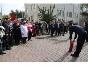 Develi'de Belediye Personeline Yangın Güvenlik Eğitimi