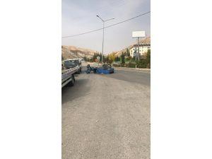 Takla Atan Çapa Motorunun Sürücüsü Yaralandı