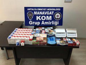 Manavgat'ta Bir İşyerinde Kaçak Nargile Tütünü Ele Geçirildi