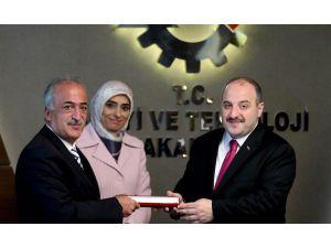 Rektör Çomaklı, Sanayi Ve Teknoloji Bakanı Mustafa Varank İle Bir Araya Geldi