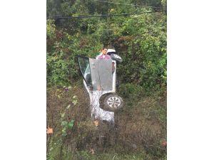 Yalova'da Otomobil Takla Attı: 1 Yaralı