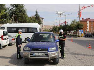 Ahlat'ta Drone İle Trafik Uygulaması