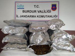 Burdur'da 50 Kilo 340 Gram Uyuşturucu Ele Geçirildi