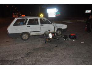Üniversiteli Motorlu Gençler Ölümden Döndü