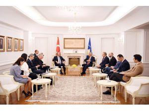 Bakan Çavuşoğlu, Kosova Cumhurbaşkanı Thaçi İle Görüştü