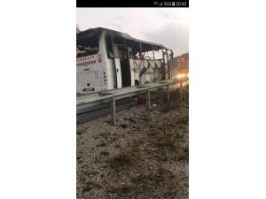 Kırşehir Çayağzıspor Takım Otobüsü Yandı