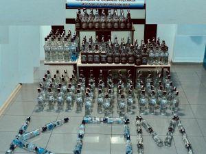 Isparta'da 240 Şişe Sahte İçki Ele Geçirildi