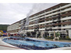 Hatay'daki Termal Otel Yangını İnceleniyor