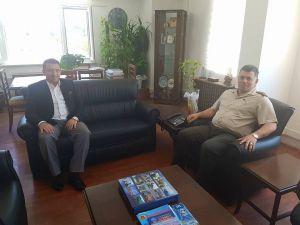 Başkan Bakıcı, İl  Jandarma Komutanlığı'nı ziyaret etti