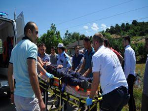 Kargo Aracı Şarampole Yuvarlandı: 1 Yaralı