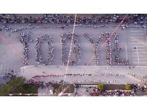 """700 Kişilik Ekip """"100. Yıl"""" Koreografisi İle Atabarı Oynadı"""