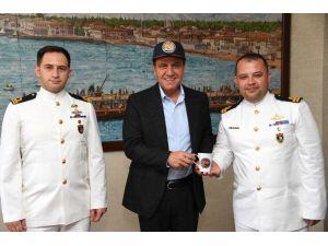 Denizkurdu 2019 Tatbikatına Katılan Komutanlardan Başkan Seçer'e Ziyaret