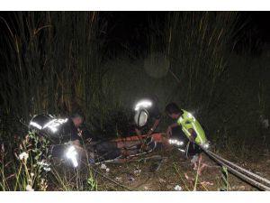 Özçekim Yaparken 4 Metreden Sulama Kanalına Düştü