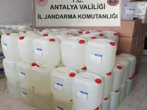 Manavgat'ta 7 Ton Kaçak Etil Alkol Ele Geçirildi