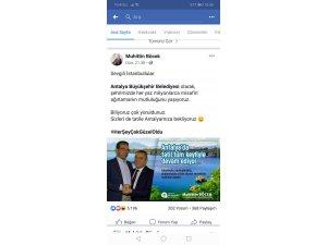 Antalyalı başkanlardan İBB'na tebrik mesajı
