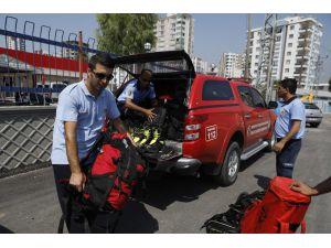 Mersin İtfaiyesi'nden Engin Eroğlu'nu Arama-kurtarma Çalışmalarına Destek
