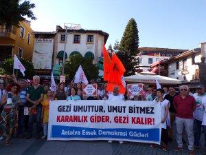 Gezi davası protesto edildi