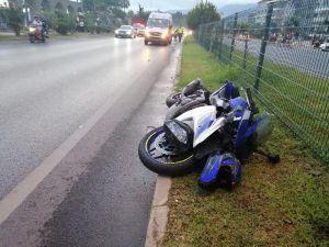 Alanya'da Motosikletin Çarptığı Yaya Öldü, Sürücü Yaralandı
