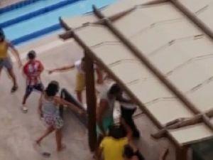 Nişanlı Çift, Havuz Başında Bayılıncaya Kadar Dövüldü