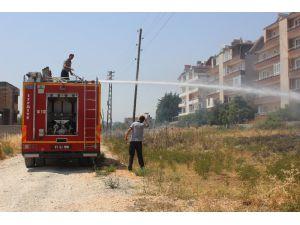 Otluk Arazide Çıkan Yangın Korkuttu
