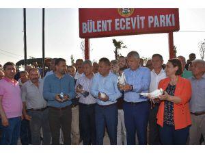 İmamoğlu'nda Bülent Ecevit Parkı Açıldı