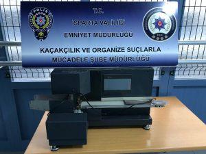 Isparta'da Otomatik Sigara Doldurma Makinesi Ele Geçirildi