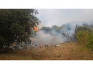Samanadağ'da Çıkan Yangın Korkuttu