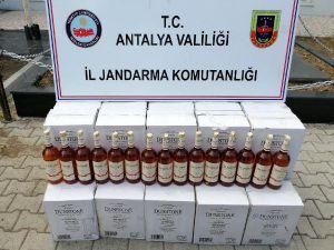 Kemer'de Kaçak İçki Baskını