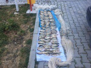 Yol Kontrolünde Yakalanan Kaçak Balıkçılara Para Cezası