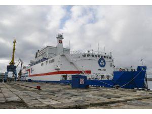 Dünyanın İlk Yüzer Nükleer Güç Ünitesi Akademik Lomonosov, Murmansk'tan Pevek'e Doğru Yola Çıktı