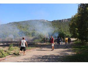 Idyros Antik Kenti'nde Yangın Korkuttu