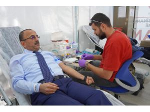 Esnaf Odalarından Kan Bağışı